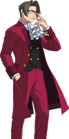 Old Miles Edgeworth by mathieutrudelle