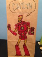 Iron Man Lunch Bag by SpencerPlatt