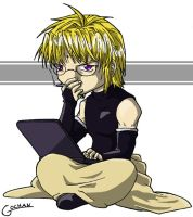 Sanzo's Laptop by rurounigochan