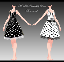 MMD Rockabilly Dress by XxXSickHeartKunXxX