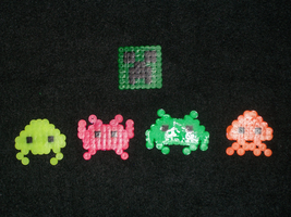 Space Invader + Creeper Magnets by PracticallyGeeky