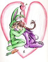 SoCute-Heero and Duo R Bunnies by pynku