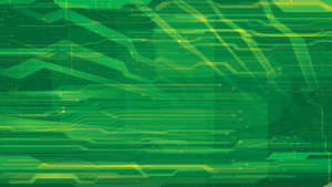 Vector Green Tech Background by HugoM-01
