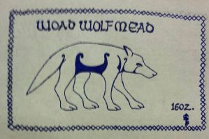 Woad Wolf Mead label  by Woad-Warrior