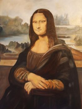 Mona Lisa Practice Piece by Hiberniart