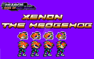 FTHRODE - Xenon The Hedgehog Final Desing Sprites by NSMBXomega