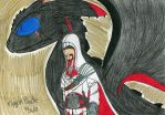 AC: Ezio and his Night Fury by FlygonPirate