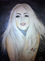 Lady Gaga Make-Up Drawing by SofiaMetaxas