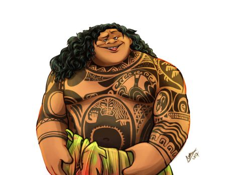 Moana - Maui Pin Up by Odme1
