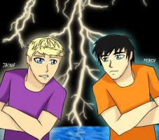 Percy and Jason by ssj2girl