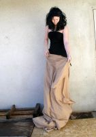 long brown skirt 5 by PhoeebStock