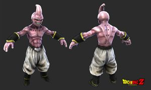 lowpoly kid buu by redblackhood