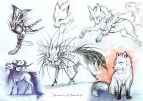 Sketches III by Saraais