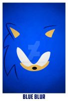 Sonic, The Blue Blur by blo0p