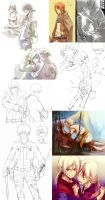 Dump-some really old and recent doodles.... by Gin-Uzumaki