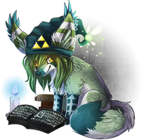 O-Hex reading the Koraktor by Pharaonenfuchs