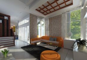 Green Cove BSD interior_living room 03 by vaD-Endz