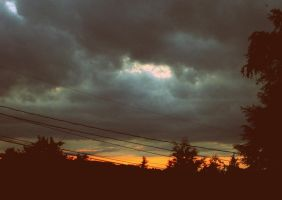 The Sunset Behind Power Lines. by connxr-m