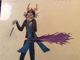 (Spoiler) Eridan's Death Colored by VostokLucini