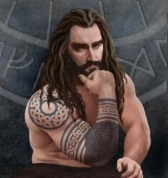 Thorin Oakenshields tattoos by 11syphuama