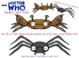 Doctor Who - Macra Vs. Giant Spider by mikedaws