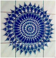 Blue filet crochet by Scatharis