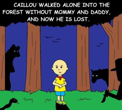 Caillou is Lost by AVRICCI