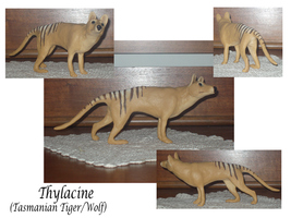Thylacine Sculpture by KeechakVarg