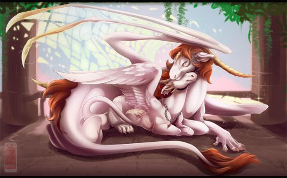 Mother and Son by runandwine