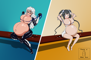 Bench Battle: Black Cat vs. Hestia by MilkyBench