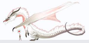 White Fatalis by macawnivore