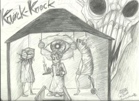 Knock-Knock ~ Fan Art by RoomsInTheWalls