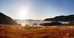 Sunset over Kangia Icefjord by hquer