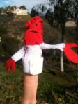 Zoidberg finger puppet by thearist2013