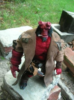 Hellboy in his coat by TBolt66