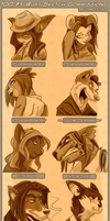 100 Bust Sketches 2 by PawFeather