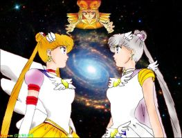 Sailor Moon and Sailor Cosmos by Kymoon