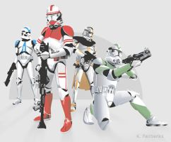 Clone Troopers by eyeqandy