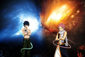 Gray Fullbuster and Natsu Dragneel by Eroshik