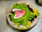 T-Rex cake 3-29-15 by Qess