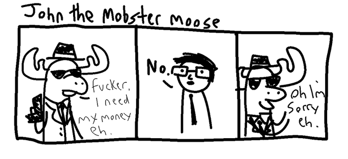 john the mobster moose by TheLatinoAsian