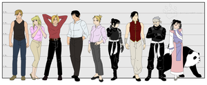 Ref. Sheet - The protagonists by RizaHokai