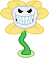 Laughing Flowey by Dalekolt