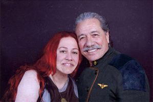 Edward James Olmos and me by AsliBayrak