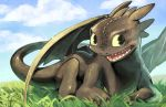 Toothless by joodlez