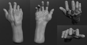 Sculptris-The Human Hand by QuestionSpark