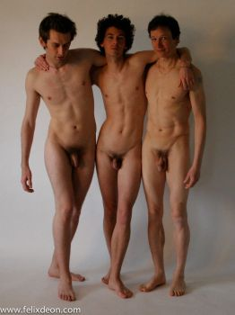 Three Standing Male Nudes by TheMaleNudeStock