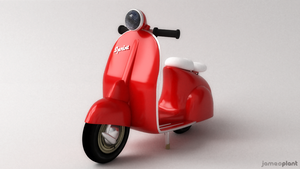 Italian Scooter by Pixelgeezer