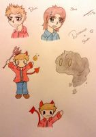 Supernatural doodles~ by TheNeonUmbreon