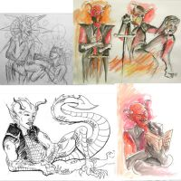 Dr Sketchy's Devil Comp by rawjawbone